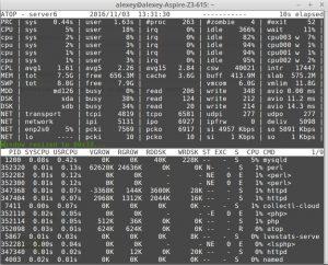 Видно как CentOS 7 или CloudLinux 7 тормозит