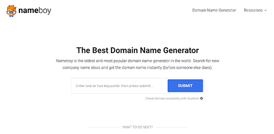 Using domain name generators for your ideas